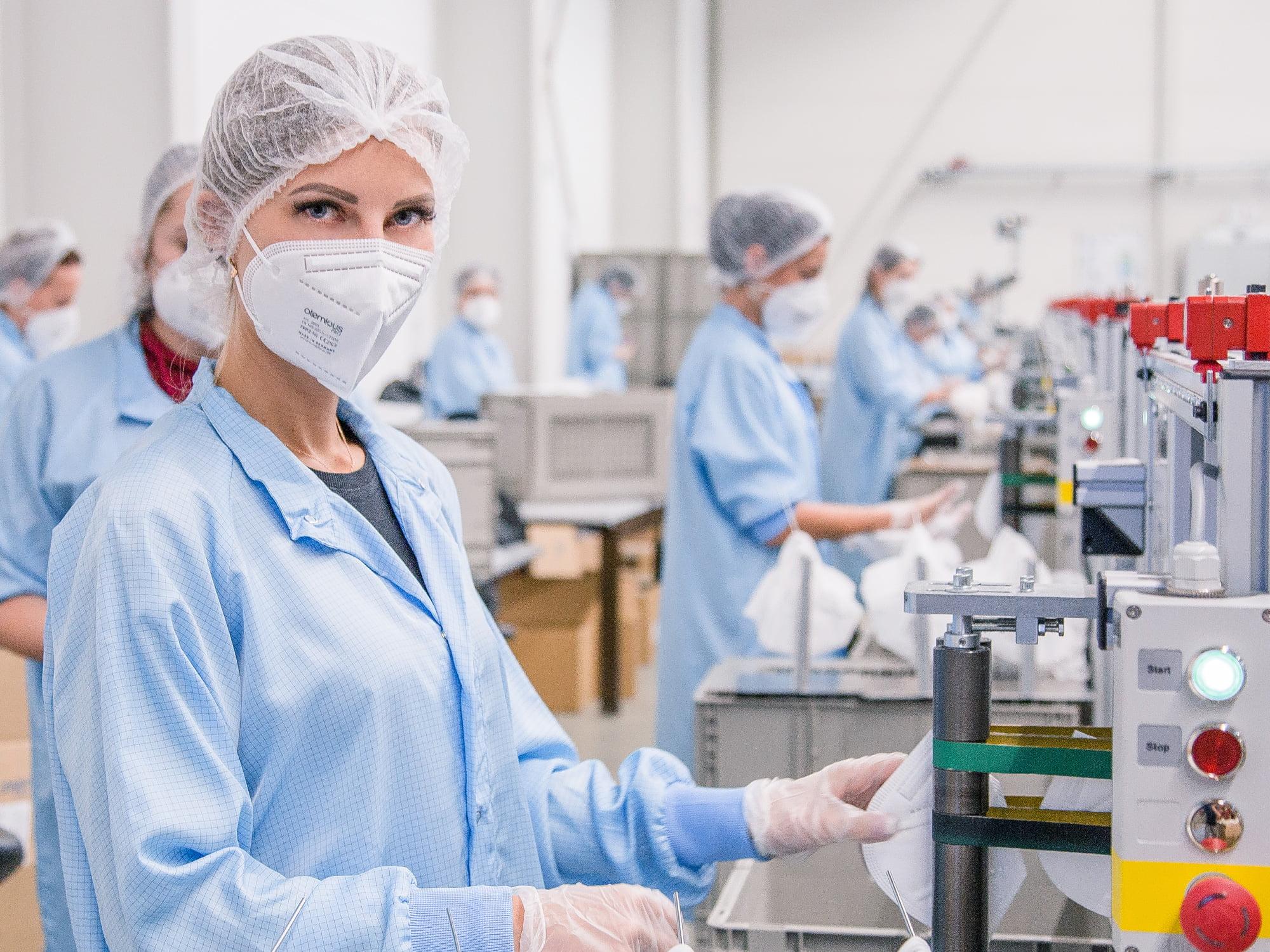 univent medical ffp2 masken produktion 01